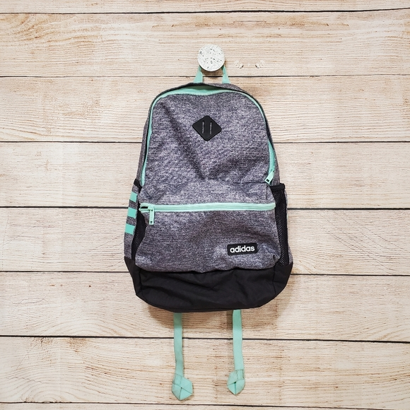 Adidas Core Classic Backpack Gray Teal Black